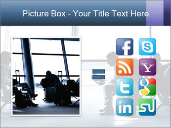 Business people traveling on airport PowerPoint Template - Slide 21