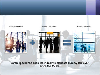 Business people traveling on airport PowerPoint Template - Slide 22