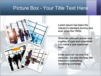 Business people traveling on airport PowerPoint Template - Slide 23