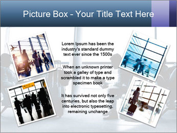 Business people traveling on airport PowerPoint Template - Slide 24