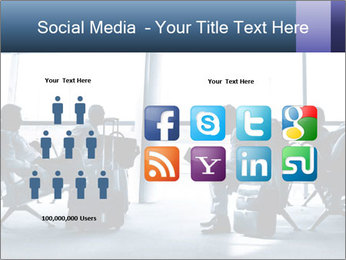 Business people traveling on airport PowerPoint Templates - Slide 5