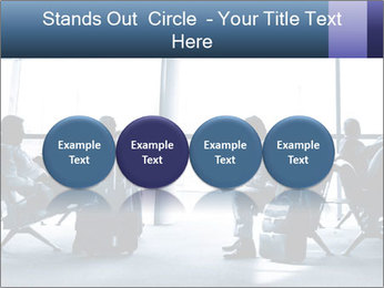 Business people traveling on airport PowerPoint Template - Slide 76
