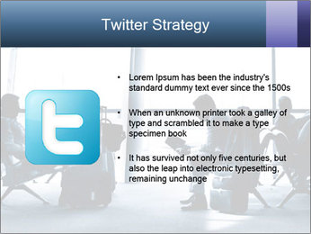 Business people traveling on airport PowerPoint Template - Slide 9