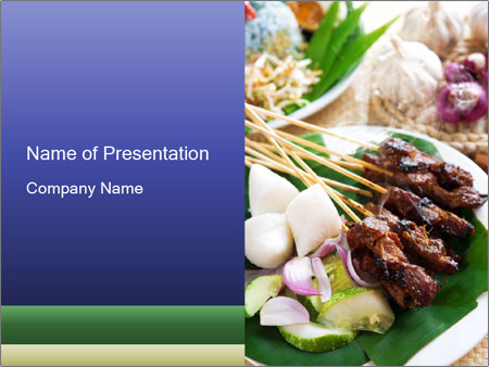 Traditional Malaysian Food Powerpoint Template  Backgrounds Id