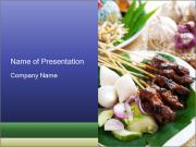 Traditional Malaysian food PowerPoint Template