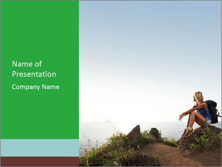 Hiker lady PowerPoint Templates