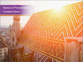 Cathedral Roof PowerPoint Template - Slide 1