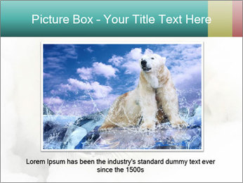 Baby harp seal pup PowerPoint Template - Slide 16