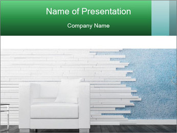 Modern white chair PowerPoint Templates - Slide 1
