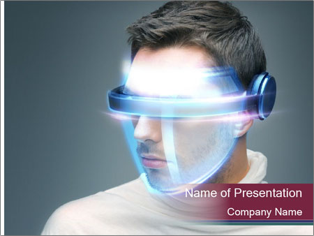 Picture of handsome man PowerPoint Template
