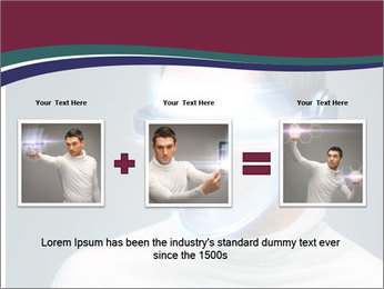 Picture of handsome man PowerPoint Template - Slide 22
