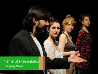 Theater Institute PowerPoint Templates - Slide 1