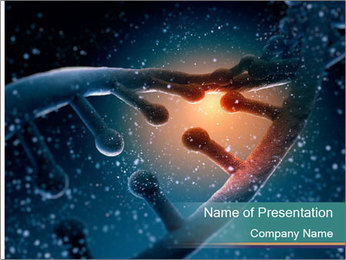 DNA molecule PowerPoint Templates - Slide 1