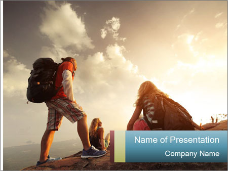 Top of a mountain PowerPoint Templates
