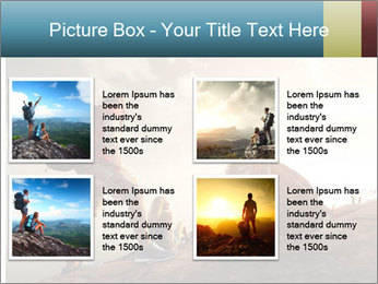 Top of a mountain PowerPoint Templates - Slide 14