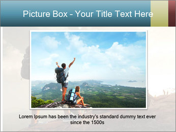 Top of a mountain PowerPoint Templates - Slide 15