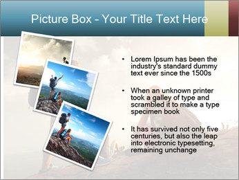 Top of a mountain PowerPoint Templates - Slide 17