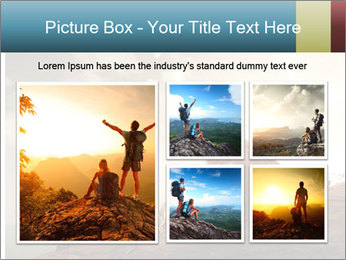 Top of a mountain PowerPoint Templates - Slide 19