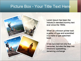 Top of a mountain PowerPoint Templates - Slide 23