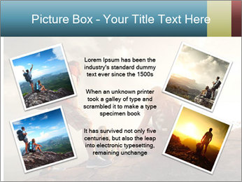 Top of a mountain PowerPoint Templates - Slide 24