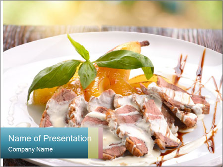 Roasted duck breast PowerPoint Templates