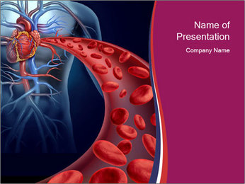 Heart blood PowerPoint Template - Slide 1