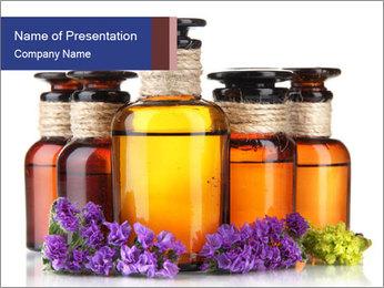 Medicine bottles PowerPoint Template - Slide 1