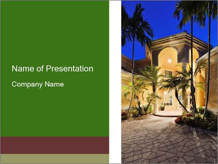 Mansion entrance PowerPoint Template