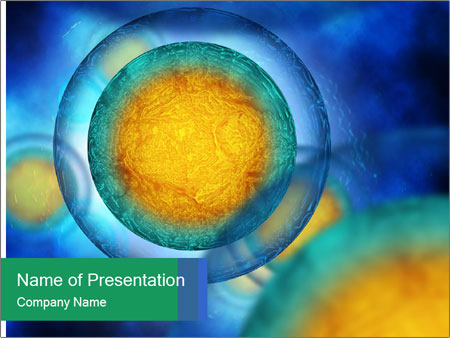 Egg cells flowing PowerPoint Templates