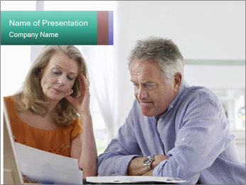 Worried mature PowerPoint Template - Slide 1