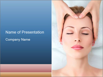 Sexy woman in spa PowerPoint Template - Slide 1