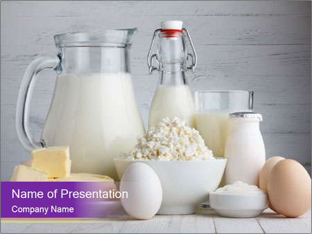 Dairy products PowerPoint Template
