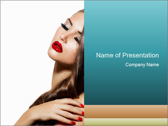 Sexy Beauty Girl PowerPoint Templates - Slide 1