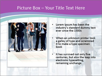 Business people rushing PowerPoint Template - Slide 13