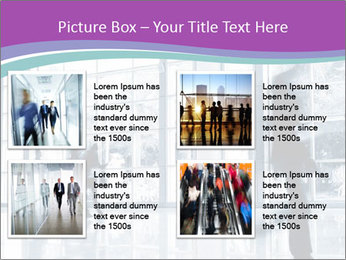 Business people rushing PowerPoint Template - Slide 14