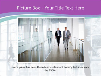 Business people rushing PowerPoint Template - Slide 15