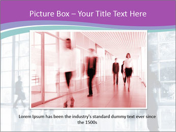 Business people rushing PowerPoint Template - Slide 16