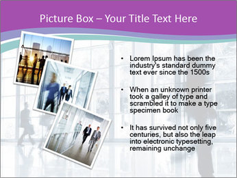 Business people rushing PowerPoint Template - Slide 17