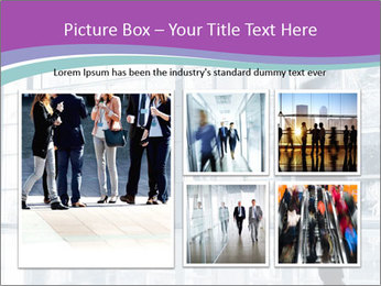 Business people rushing PowerPoint Template - Slide 19