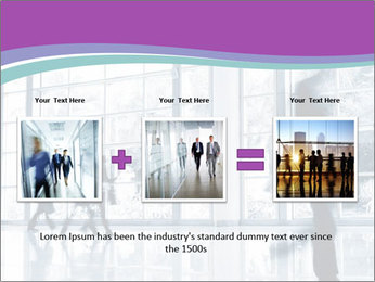 Business people rushing PowerPoint Template - Slide 22