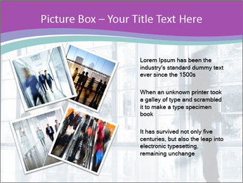 Business people rushing PowerPoint Template - Slide 23