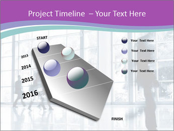 Business people rushing PowerPoint Template - Slide 26