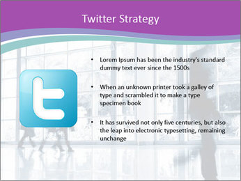 Business people rushing PowerPoint Template - Slide 9