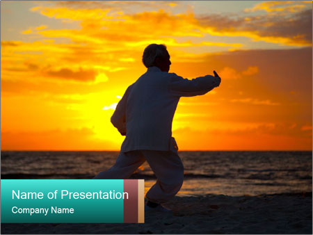 Chinese Elderly Woman PowerPoint Template