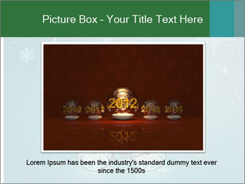 Cute Santa Claus on bicycle PowerPoint Template - Slide 15