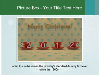 Cute Santa Claus on bicycle PowerPoint Templates - Slide 16