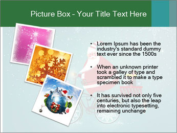 Cute Santa Claus on bicycle PowerPoint Template - Slide 17