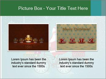 Cute Santa Claus on bicycle PowerPoint Template - Slide 18
