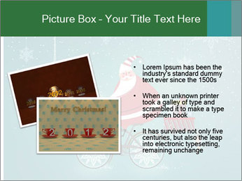 Cute Santa Claus on bicycle PowerPoint Templates - Slide 20