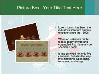 Cute Santa Claus on bicycle PowerPoint Template - Slide 20